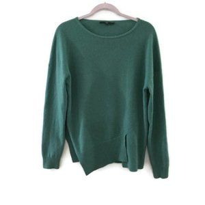 TIBI Green Cashmere sweater- Funnel neck pullover